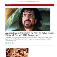 Alan Rickman Celebrated by Fans on Robin Hood: Prince of Thieves 30th Anniversary