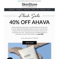 Flash Sale! 40% Off AHAVA's Dead Sea Mineral Skin Care
