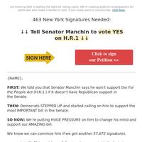 Tell Senator Manchin to vote YES on H.R.1
