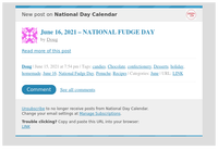 [New post] June 16, 2021 – NATIONAL FUDGE DAY