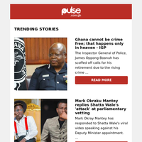 Ghana cannot be crime free; that happens only in heaven - IGP