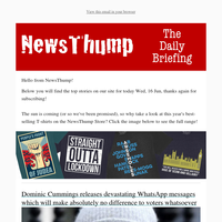 Your NewsThump Daily Briefing for Wed, 16 Jun