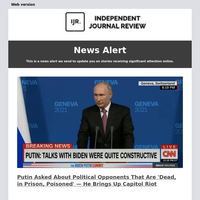 Putin Asked About Political Opponents That Are 'Dead, in Prison, Poisoned' — He Brings Up Capitol Riot