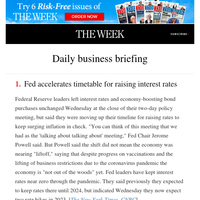 Daily business briefing