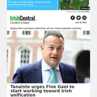 United Ireland - Leo Varadkar tells Fine Gael it's time to prepare