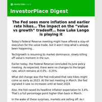 Surprises from the Fed