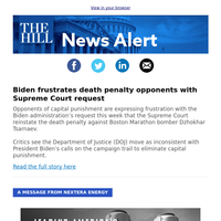 News Alert: Biden frustrates death penalty opponents with Supreme Court request