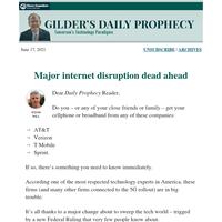 Major internet disruption dead ahead
