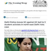 The Evening Wrap: Delhi High Court on Delhi riots case