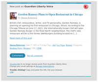 [New post] Gordon Ramsey Plans to Open Restaurant in Chicago