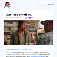 A/B Test Email #1