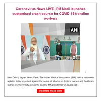Hi {NAME}, Coronavirus News LIVE | PM Modi launches customised crash course for COVID-19 frontline workers