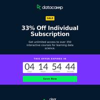 ⚬ Special Offer: Get 33% Off