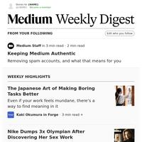 Keeping Medium Authentic | Medium Staff in 3 min read