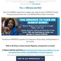 BREAKING: Val Demings is running to take on Marco Rubio