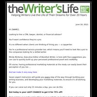 Writers – be taken seriously