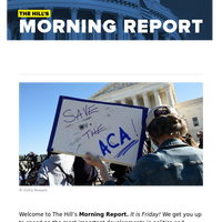 The Hill's Morning Report - 1/ Supreme Court backs Affordable Care Act for third time. 2/ Senate to bring voting rights, election reform measure to floor; Dems scramble for votes. 3/ Democrats eye gargantuan challenge with potential $6 trillion plan