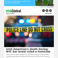 Irish American's death during NYC bar brawl ruled a homicide