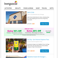Sam's Club Membership Package + Up to an Extra 20% OFF!
