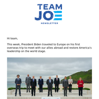 re: Europe, the American Jobs Plan, and supporting Democrats nationwide