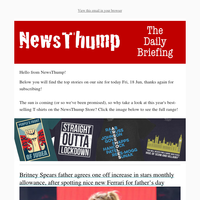 Your NewsThump Daily Briefing for Fri, 18 Jun