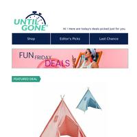 Fun Friday Deals - 58% Off Kids' Tipi Tent