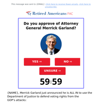 Does {NAME} approve of Merrick Garland??