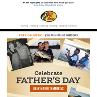 Celebrate Dad with Father's Day gifts from Bass Pro Shops