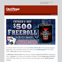 💰Celebrate Father's Day With Cash Freerolls On National League Of Poker (NLOP)