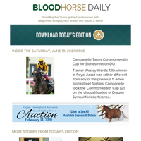 BloodHorse Daily for Saturday, June 19