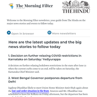 The Morning Filter: West Bengal Gov stays on in Delhi