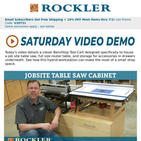Combine a Table Saw and Router Table into One Workstation – Watch the Video!