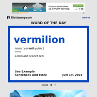 vermilion   Word of the Day