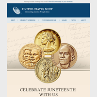 Join the U.S. Mint in commemorating Juneteenth.