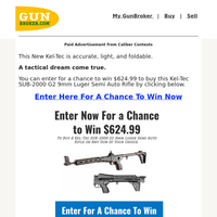 Kel-Tec Sweepstakes ($624.99 Value) - Enter For a Chance To Win 