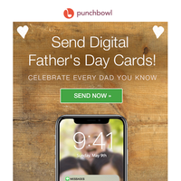 🌟 TODAY: Send digital Father's Day cards! 🌟 Deliver instantly.