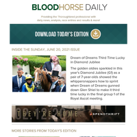 BloodHorse Daily for Sunday, June 20