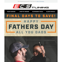 Happy Father's Day! Up To 30% Off Tools at ECS Tuning