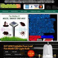 Solar ultrasonic mouse repeller JUST $13.99.$16.99 E27 Foldable 60W Four Leaf LED Bulb.