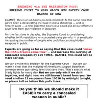 the Supreme Court could make the NRA's dreams come true