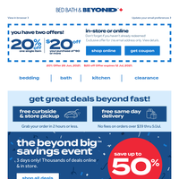 STARTS NOW: The Beyond Big Savings Event 🤩 Start summer with a splash! Plus, your COUPONS are inside.