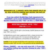 re: Kyrsten Sinema's deciding vote on H.R. 1 (this  is critical, {NAME})