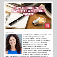 How to Live the Life of a Full Time Screenwriter