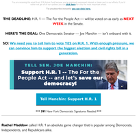 Tell Joe Manchin: Support the For the People Act