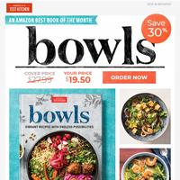 Mediterranean Carrot Noodle Bowl, Curried Coconut Shrimp Soup, Turkey Meatball & Barley Bowl...