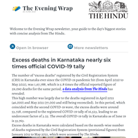 The Evening Wrap: Karnataka excess deaths nearly 6 times official COVID-19 tally