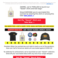"""⭐ {NAME}'s LIMITED EDITION """"Vaccinated"""" Merch ⭐"""