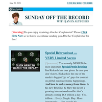 Sunday Off the Record with James Altucher