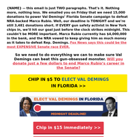this will take one minute. [re: Val Demings, Marco Rubio]
