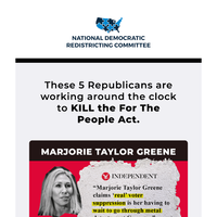 5 Republicans working to KILL the For The People Act